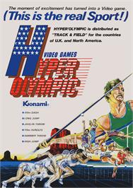 Advert for Hyper Olympic on the Arcade.