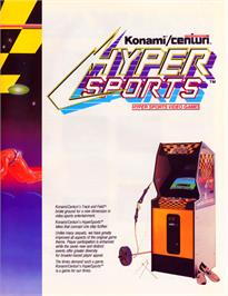 Advert for Hyper Sports on the Acorn BBC Micro.