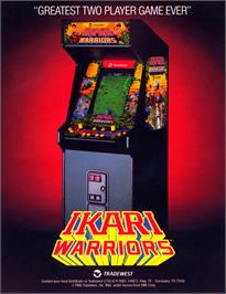 Advert for Ikari Warriors on the Arcade.