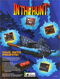 Advert for In The Hunt on the Arcade.