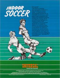 Advert for Indoor Soccer on the Sinclair ZX Spectrum.
