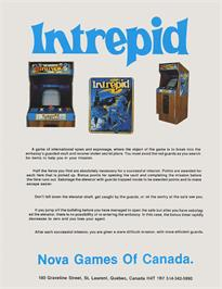 Advert for Intrepid on the Arcade.