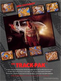 Advert for Ironman Ivan Stewart's Super Off-Road Track-Pak on the Arcade.