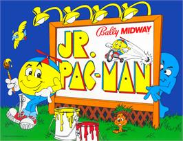Advert for Jr. Pac-Man on the Arcade.