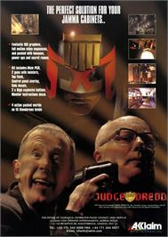 Advert for Judge Dredd on the Sega Nomad.