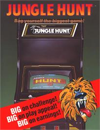 Advert for Jungle Hunt on the Atari 8-bit.