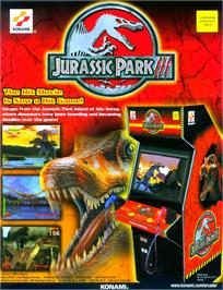 Advert for Jurassic Park 3 on the Arcade.