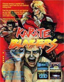 Advert for Karate Blazers on the Arcade.