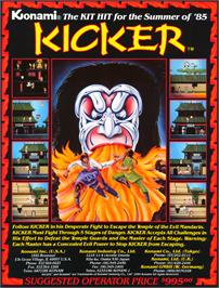 Advert for Kicker on the Arcade.