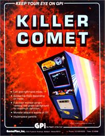 Advert for Killer Comet on the Arcade.