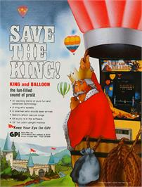Advert for King & Balloon on the Arcade.