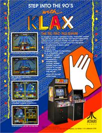 Advert for Klax on the Arcade.