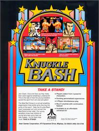 Advert for Knuckle Bash on the Arcade.