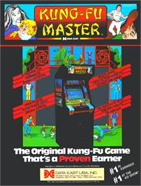 Advert for Kung-Fu Master on the Arcade.