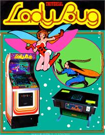 Advert for Lady Bug on the Arcade.