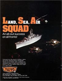 Advert for Land Sea Air Squad / Riku Kai Kuu Saizensen on the Arcade.