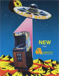Advert for Laser Base on the Arcade.