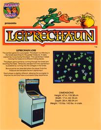 Advert for Leprechaun on the Arcade.