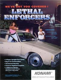 Advert for Lethal Enforcers on the Arcade.