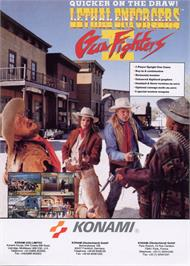 Advert for Lethal Enforcers II: The Western on the Arcade.