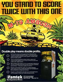 Advert for M-79 Ambush on the Arcade.