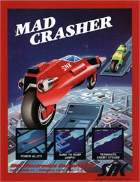 Advert for Mad Crasher on the Arcade.