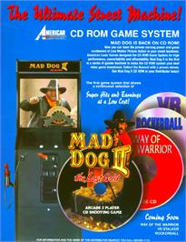 Advert for Mad Dog II: The Lost Gold   on the Arcade.