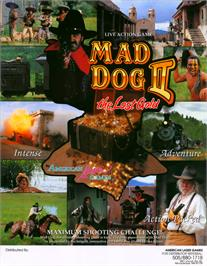 Advert for Mad Dog II: The Lost Gold v2.02 on the Arcade.