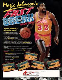 Advert for Magic Johnson's Fast Break on the Amstrad CPC.