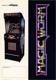 Advert for Magic Worm on the Arcade.