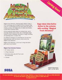 Advert for Magical Truck Adventure on the Arcade.