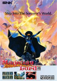 Advert for Magician Lord on the SNK Neo-Geo AES.