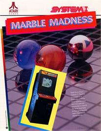 Advert for Marble Madness on the Arcade.