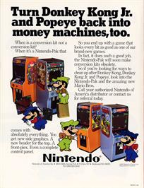 Advert for Mario Bros. on the Arcade.