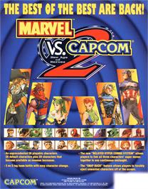 Advert for Marvel Vs. Capcom 2 New Age of Heroes on the Arcade.