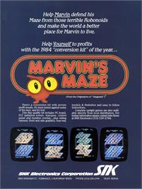 Advert for Marvin's Maze on the Arcade.
