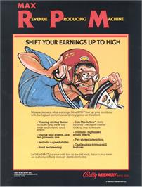 Advert for Max RPM on the Arcade.