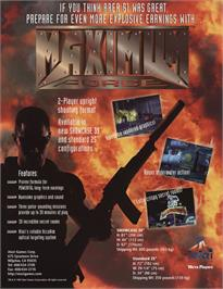 Advert for Maximum Force on the Arcade.
