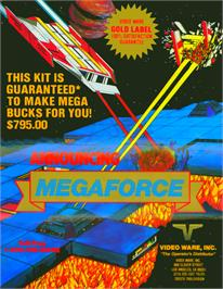 Advert for Mega Force on the Arcade.