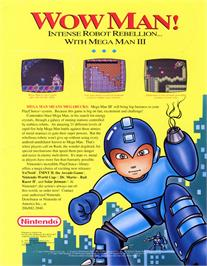 Advert for Mega Man III on the Nintendo Arcade Systems.
