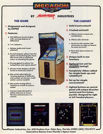 Advert for Megadon on the Arcade.