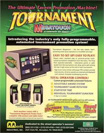 Advert for Megatouch III Tournament Edition on the Arcade.