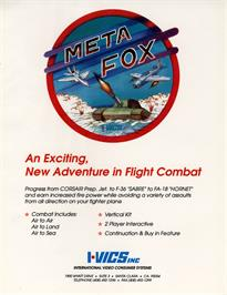 Advert for Meta Fox on the Arcade.