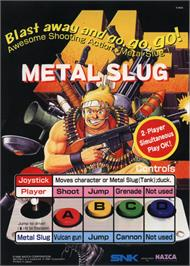 Advert for Metal Slug - Super Vehicle-001 on the Arcade.