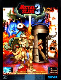 Advert for Metal Slug 3 on the Arcade.