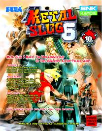 Advert for Metal Slug 6 on the Arcade.