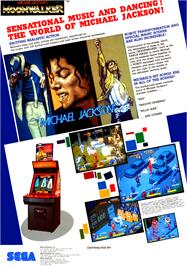 Advert for Michael Jackson's Moonwalker on the Sega Master System.