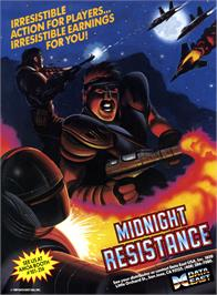 Advert for Midnight Resistance on the Arcade.