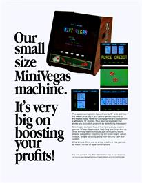 Advert for Mini Vegas 4in1 on the Arcade.