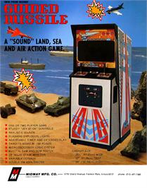 Advert for Missile X / Guided Missile on the Arcade.